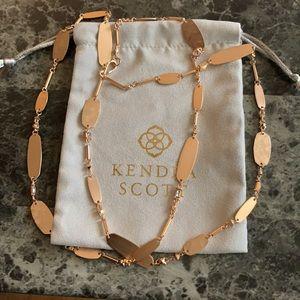 New Kendra Scott rose gold Claret long necklace